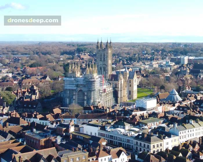 Canterbury Cathedral with Scaffolding