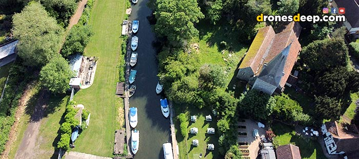 Fordwich by drone