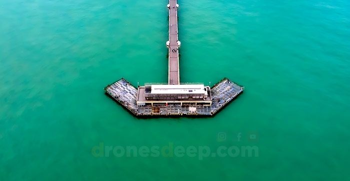 Aerial view of Deal Pier