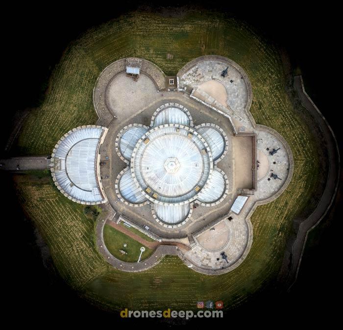 Deal Castle birds eye view