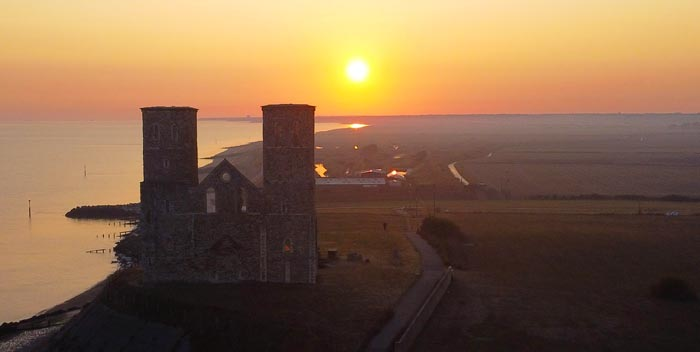 Reculver Towers by Drone